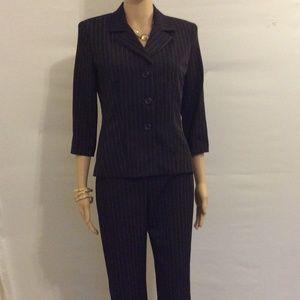 Vtg B. Smart Cami Pant Suit Black Pink size 3\4